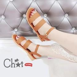 Giày Sandal Nữ Quai Kép Mùa Thu