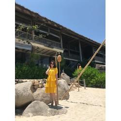 Đầm Xòe Thun Eo 3 Tầng