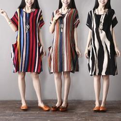 Đầm suông họa tiết lạ D3034