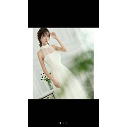Đầm dạ hội cổ yếm