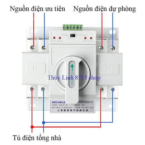 Cầu dao đảo chiều tự động ATS 2P 63A bộ chuyển nguồn điện - 6006753 , 10105815 , 15_10105815 , 409000 , Cau-dao-dao-chieu-tu-dong-ATS-2P-63A-bo-chuyen-nguon-dien-15_10105815 , sendo.vn , Cầu dao đảo chiều tự động ATS 2P 63A bộ chuyển nguồn điện