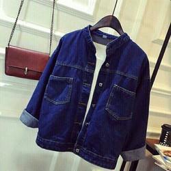 áo khoác jean xanh đậm