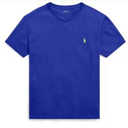 Áo thun bé trai cổ tim Polo Ralph Lauren xuất xịn - màu xanh dương