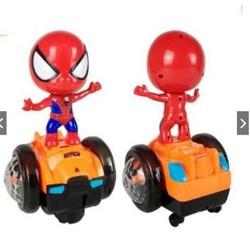 Người nhện lái xe thăng bằng xoay 360 độ: Dùng pin, có đèn, nhạc