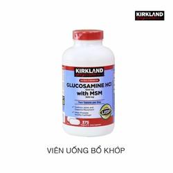 Viên uống bổ xương khớp - Glucosamine HCL 1500mg Kirkland 375 viên