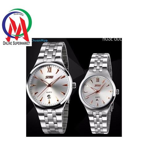 Đồng hồ Đôi Skmei OM 062 - Kim Vàng