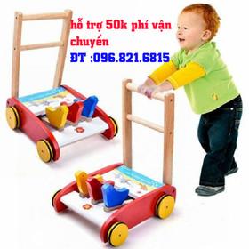 xe tập đi cho bé-xe đẩy cho bé-xe đẩy bằng gỗ-xe gỗ tập đi - freeship xe tập đi cho bé