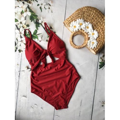 Bikini 1 mảnh thắt nơ hở bụng