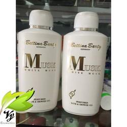 Sữa Tắm Nước Hoa Bettina Barty MUSK White musk 500ml - Đức