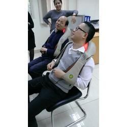 Đai massage giảm đau vai gáy cổ hồng ngoại, máy mát xa xoa bóp vai gáy