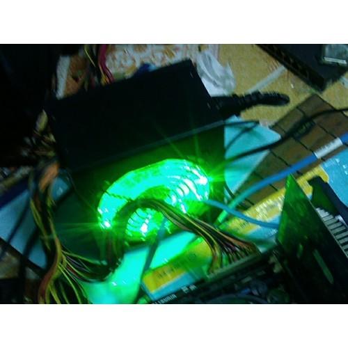 nguồn máy tính hunky công suất thực 400w có  đèn led 16 bóng