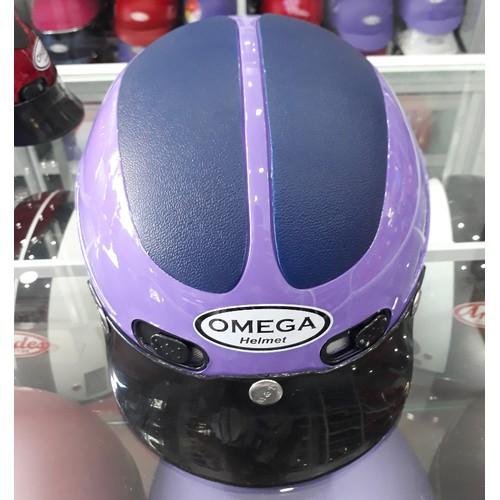 Nón bảo hiểm Omega vá tím