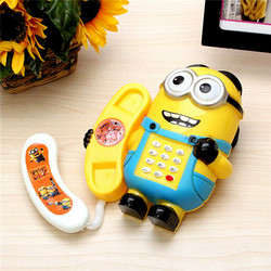 Điện thoại hoạt hình Minion có đèn  nhạc vui nhộn cho bé