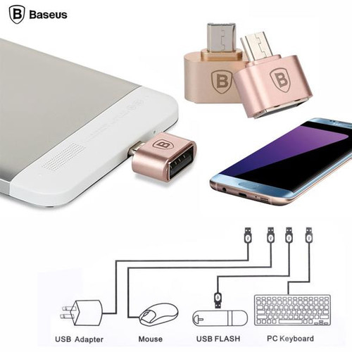 Đầu chuyển OTG Micro USB sang USB 2.0 hãng Baseus