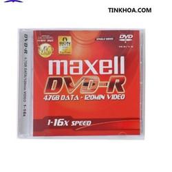 Đĩa trắng DVD-R MAXEL 4.7GB 16X HỘP 1 CÁI Loại Tốt