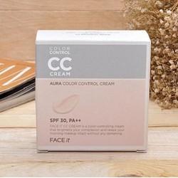 Kem Nền CC Cream Face It Aura Color Control Cream 20g
