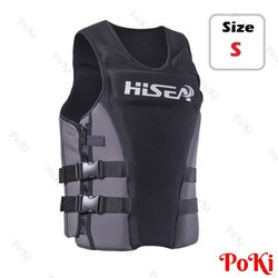 Áo phao bơi cứu hộ BLACK HISEA - Size S - POKI