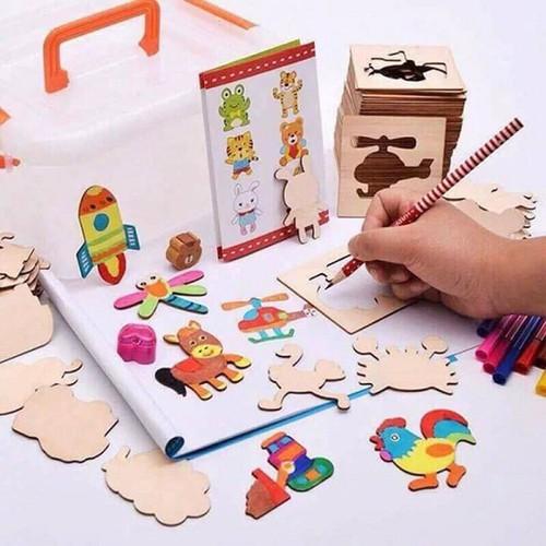 Bộ đồ chơi khuôn gỗ tập vẽ và tô màu cho bé - 7198628 , 13900325 , 15_13900325 , 150000 , Bo-do-choi-khuon-go-tap-ve-va-to-mau-cho-be-15_13900325 , sendo.vn , Bộ đồ chơi khuôn gỗ tập vẽ và tô màu cho bé