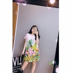 Đầm suông in họa tiết cực xinh