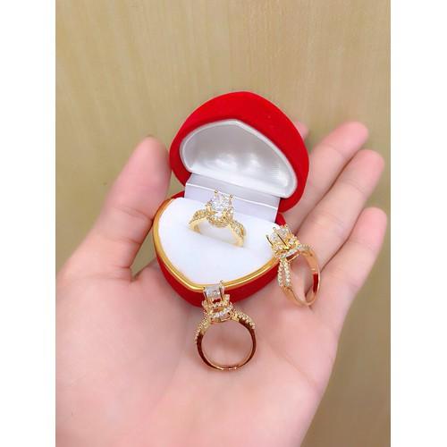 nhẫn nữ xoàn đính đá kim cương dát vàng 18k - 4349203 , 10555626 , 15_10555626 , 199000 , nhan-nu-xoan-dinh-da-kim-cuong-dat-vang-18k-15_10555626 , sendo.vn , nhẫn nữ xoàn đính đá kim cương dát vàng 18k