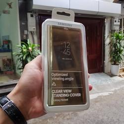 Bao da Clear View Standing Cover Samsung Galaxy Note 8 chính hãng Vàng
