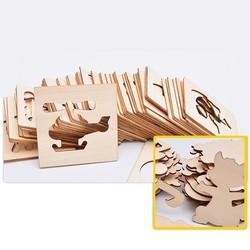 Bộ đồ chơi khuôn gỗ tập vẽ và tô màu...