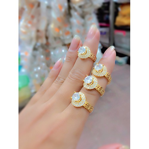 nhẫn nữ xoàn mÀU vàng 18k - 4349935 , 10556494 , 15_10556494 , 199000 , nhan-nu-xoan-mAU-vang-18k-15_10556494 , sendo.vn , nhẫn nữ xoàn mÀU vàng 18k