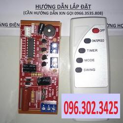 Combo 10 bộ mạch điều khiển quạt từ xa đa năng