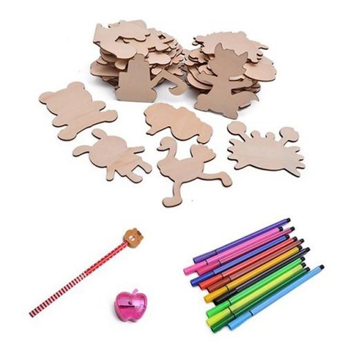 Bộ đồ chơi khuôn gỗ tập vẽ và tô màu cho bé - 4621563 , 13891647 , 15_13891647 , 129000 , Bo-do-choi-khuon-go-tap-ve-va-to-mau-cho-be-15_13891647 , sendo.vn , Bộ đồ chơi khuôn gỗ tập vẽ và tô màu cho bé