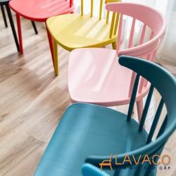 Ghế nhựa nhiều màu sắc cho quán cafe trà sữa hiện đại- Mã 236