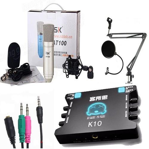 Chọn bộ thu âm mic isk at100-xox k10 đầy đủ phụ kiện