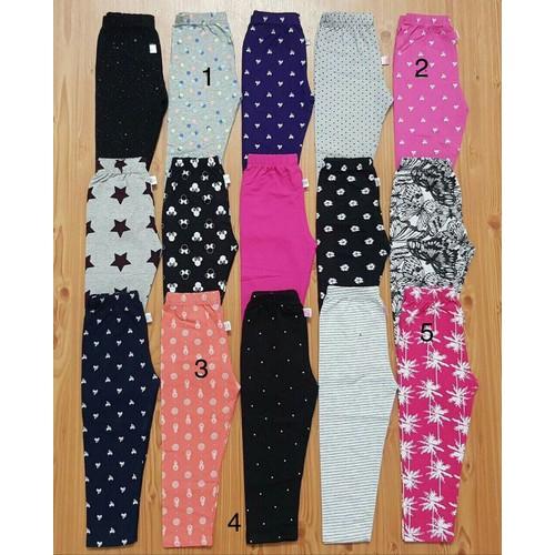 Quần dài bé gái quần legging bé gái quần ôm dài bé gái quần thun dài bé gái size 1-9 thanh lý giá sốc