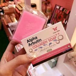 Xà bông tắm trắng da Venut White Alpha Arbutin Collagen Soap 80g