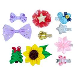 Quà tặng sinh nhật cho bé gái 10 kẹp bốn mùa Latin Handmade