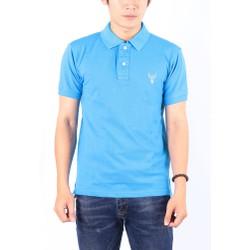 Áo thun nam cổ bẻ chuẩn phong cách Pigofashion PG01 - xanh da
