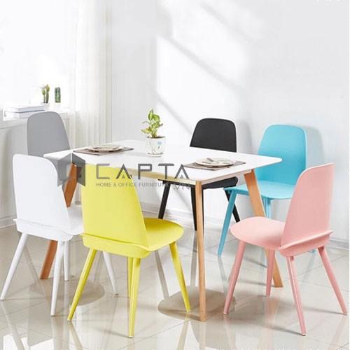 Bộ bàn ăn te lexi 1m2 và 6 ghế nerd cho phòng ăn căn hộ hiện đại tại tphcm nội thất capta
