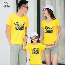 Áo gia đình giá rẻ chất cotton 4 chiều