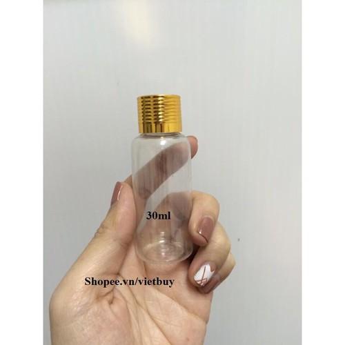chai nhựa nắp vàng 30ml