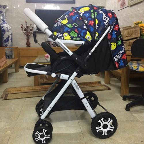Xe đẩy cao cấp 2 chiều 3 tư thế gầm cao và có giảm sóc cho bé