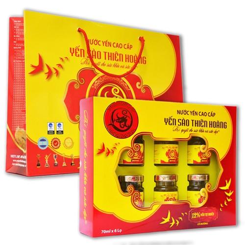 Combo 2 hộp yến sào Thiên Hoàng cao cấp kèm túi giấy