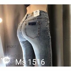 Quần jean nữ lưng cao form chuẩn