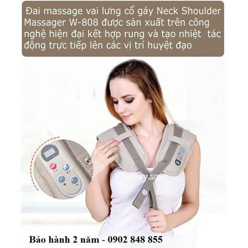 [Giao nhanh 3h]đai massage vai lưng cổ gáy neck shoulder massager w-808- hàn quốc