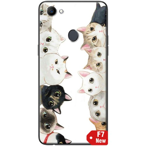 Ốp lưng nhựa dẻo Oppo F7 Đàn mèo