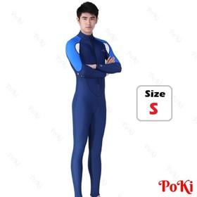 Quần áo lặn biển dài tay NAM - BLUE, cản tia UV 99 phần trăm - POKI - 23nam