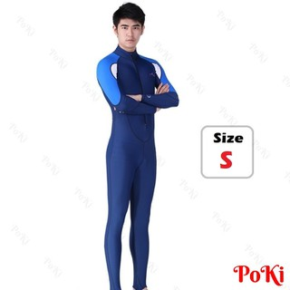 Quần áo lặn biển dài tay NAM - BLUE, cản tia UV 99 phần trăm - POKI - 23nam thumbnail