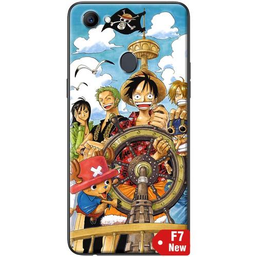 Ốp lưng nhựa dẻo Oppo F7 One Piece lái tàu