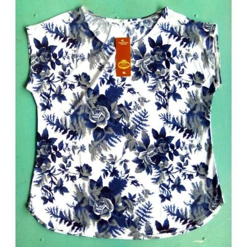 Áo thun trung niên họa tiết hoa lá form nhỏ và trung