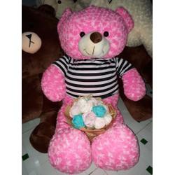Gấu Teddy loại 1m4 - gấu yêu tặng quà ý nghĩa