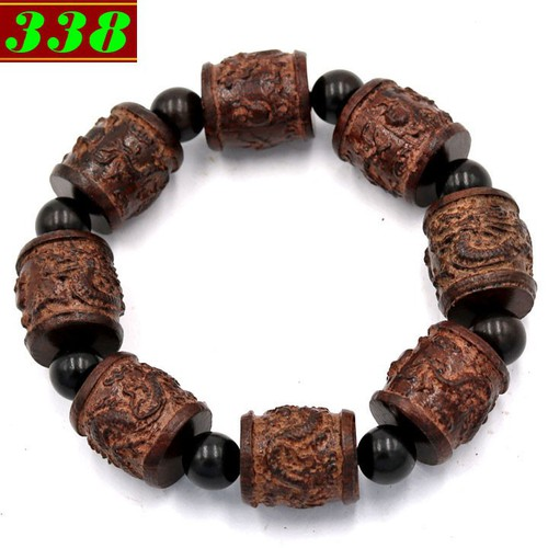 Chuỗi đeo tay trụ rồng gỗ đàn hương TRNT2