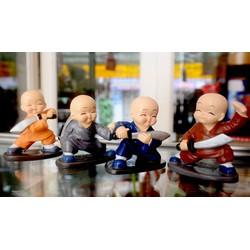 Bộ tượng bốn Chú Tiểu múa đao luyện võ